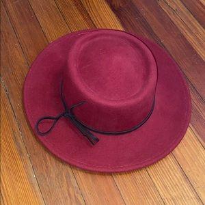Brooklyn Hat Co Burgundy Wool Fedora